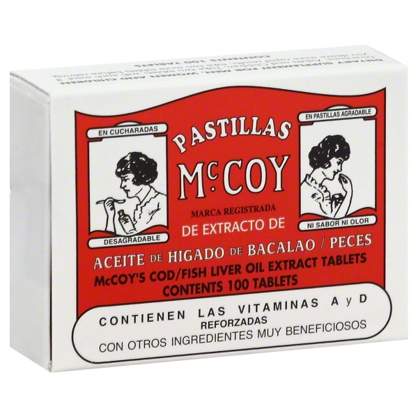Pastillas Mccoy: Tablets Cod/Fish Liver Oil Extract, 100ct