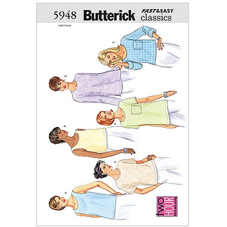 Butterick Pattern Misses' and Misses' Petite Top, (20, 22, - Butterick Halloween Patterns