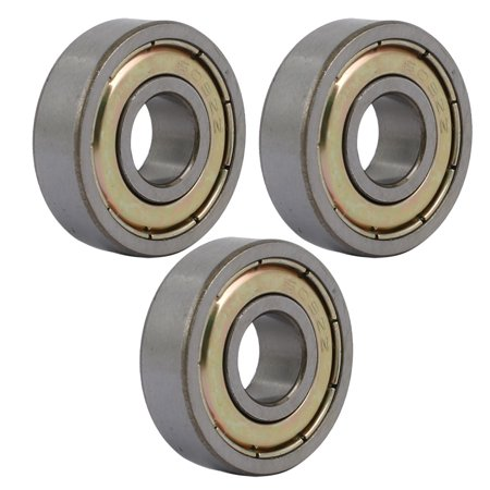 3 Pcs 24mmx9mmx7mm Stainless Steel Double Shielded Deep Groove Ball Bearing