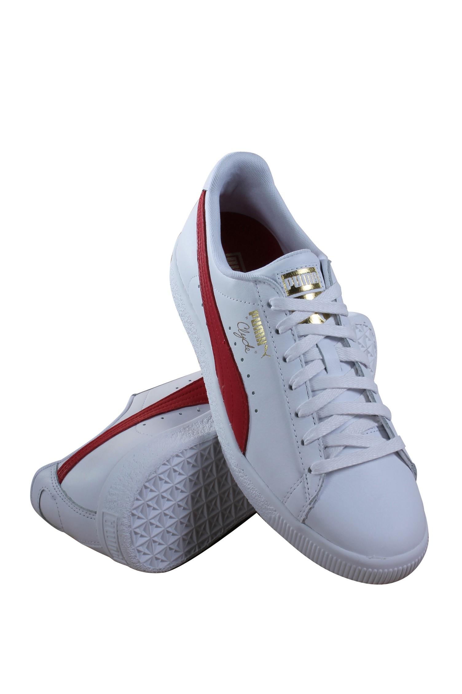 PUMA - Puma Clyde Core L Foil Men s Shoes White-Barbados Cherry-Gold  364669-03 - Walmart.com f74af7c0d