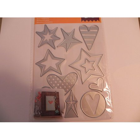 Cuttlebug Dies, Stars & Hearts, Heart Scrapbooking Stars Album Metal used HeartStarFloral A2 Cutting Item Hearts This Tulips Tool item Making Media is.., By Cricut Ship from US