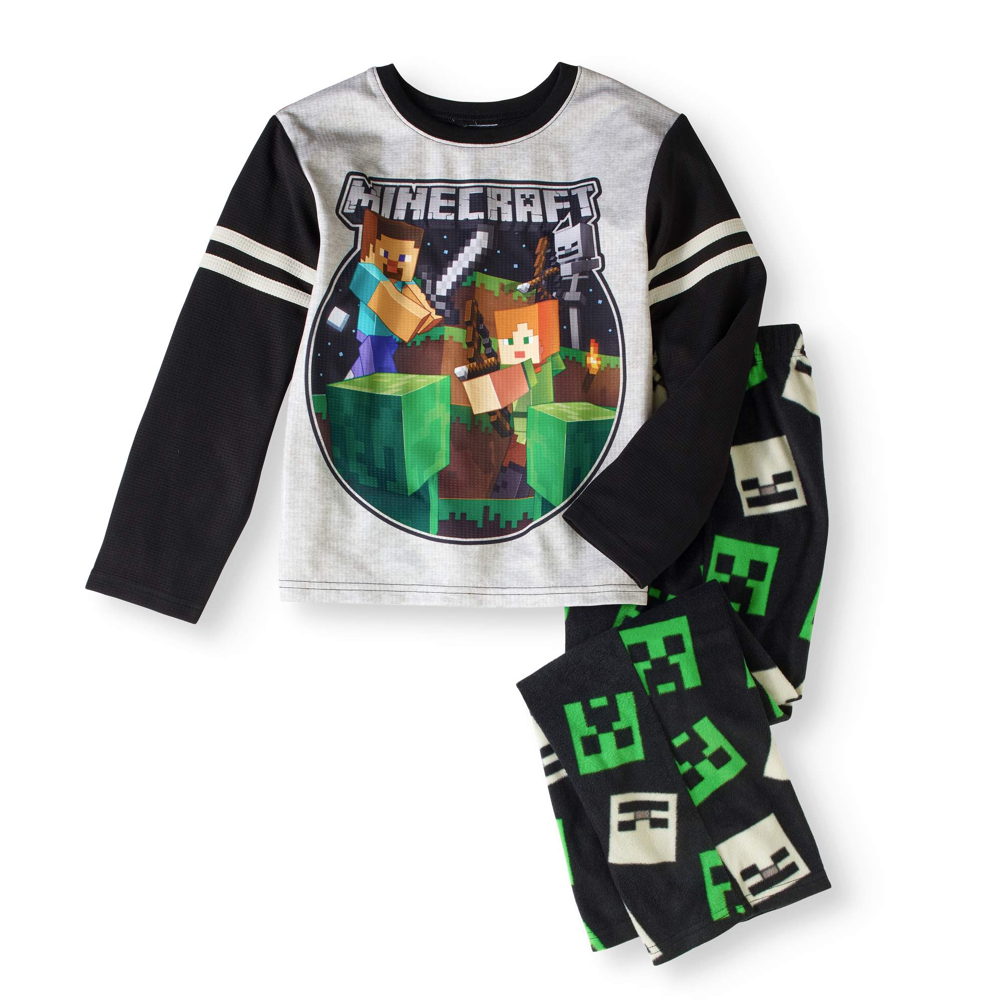 Boy's Minecraft Microfleece 2 Piece Pajama Sleep Set (Big Girls & Little Girls)