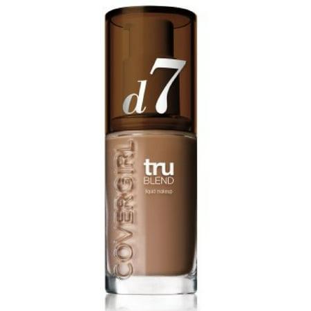 2 Pack - CoverGirl Tru Blend Liquid Foundation Makeup, Soft Sable D7 1 oz (Foundation Expression Blend)