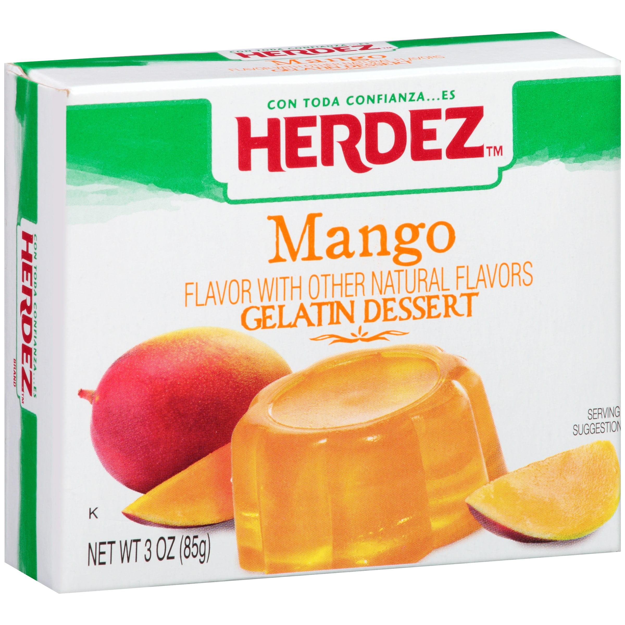 Herdez Mango Gelatin Dessert 3 oz. Box