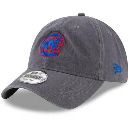 Chicago Cubs New Era Crawling Bear Logo Core Classic 9TWENTY Adjustable Hat - Graphite - OSFA ()