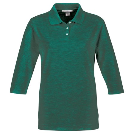 Tri-Mountain Women's Three Button Placket Knit Golf - Knit Button Shirt