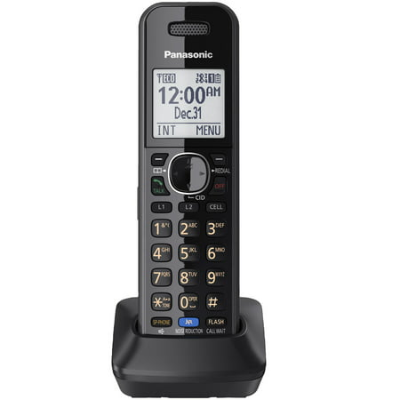 Panasonic Black Cordless Handset for Panasonic's 2-Line Link2Cell Convergence (Panasonic 2 Line Cordless Phone Link To Cell)