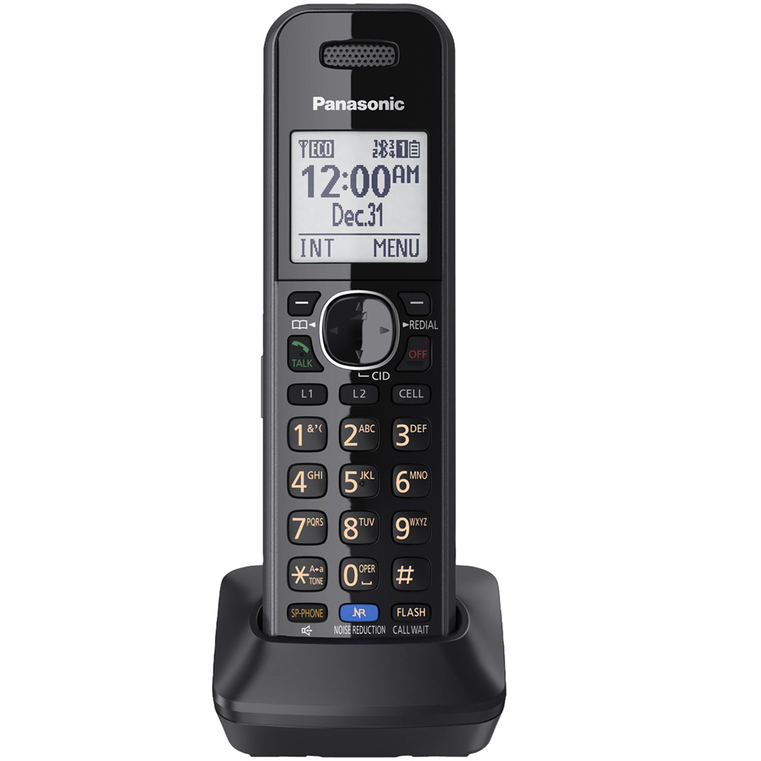 Panasonic Black Cordless Handset for Panasonic's 2-Line Link2Cell Convergence Solution