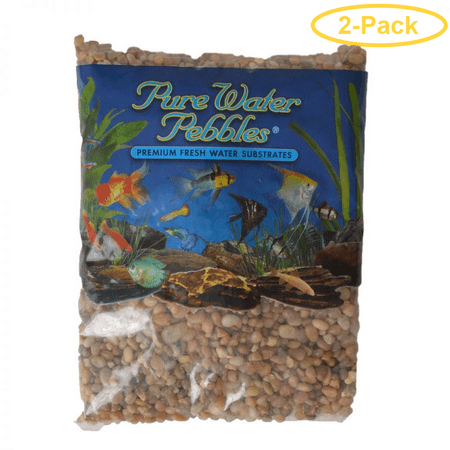 Pure Water Pebbles Aquarium Gravel - Cumberland River Gems 5 lbs (6.3-9.5 mm Grain) - Pack of (Gravel 5 Lb River Jewels)