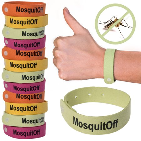 Kinven12PackBugs Lock Mosquito Repellent Wristbands Safe Natural Insect Repeller