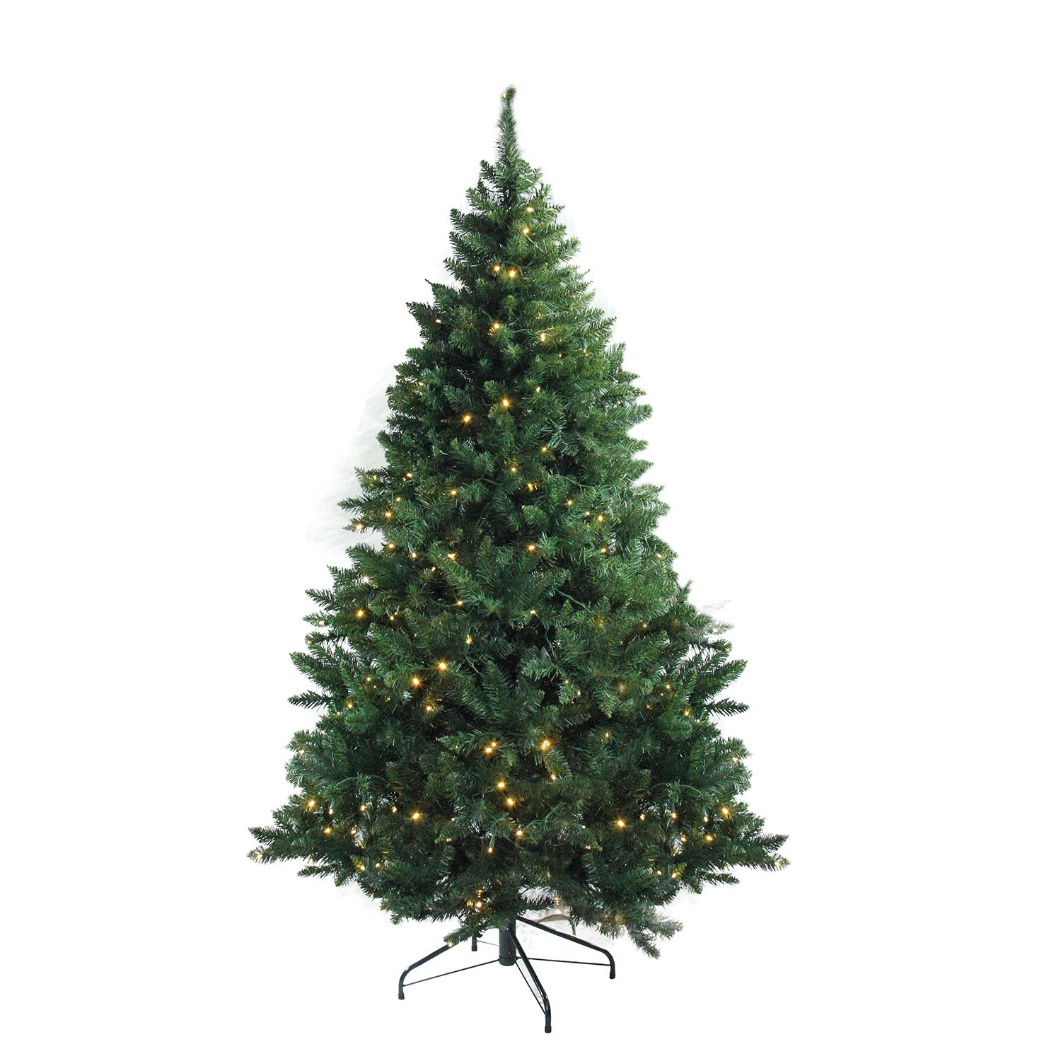 "12' x 80"" Pre-Lit Buffalo Fir Full Artificial Christmas Tree - Warm White LED Lights"