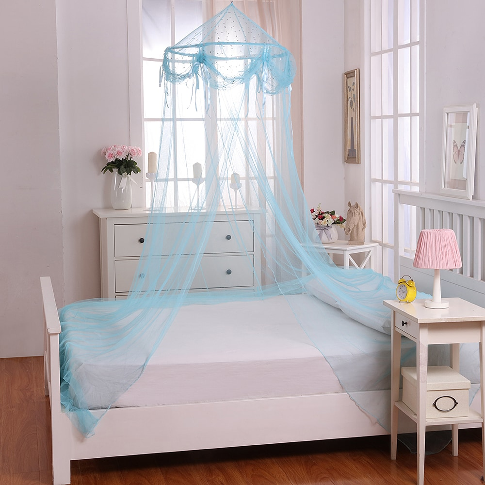 Epoch Hometex, Inc. Buttons and Bows Kids' Collapsible Hoop Sheer Bed Canopy