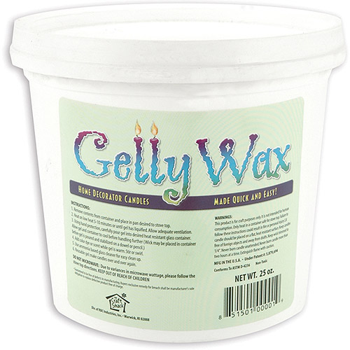 Gelly Candle Wax 25 oz, Clear