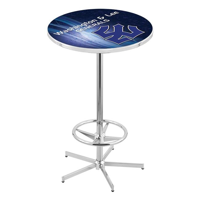 Holland Bar Stool L216C4236WshLee 42 in. Washington & Lee Generals Pub Table with 36 in. Top, Chrome - image 1 de 1