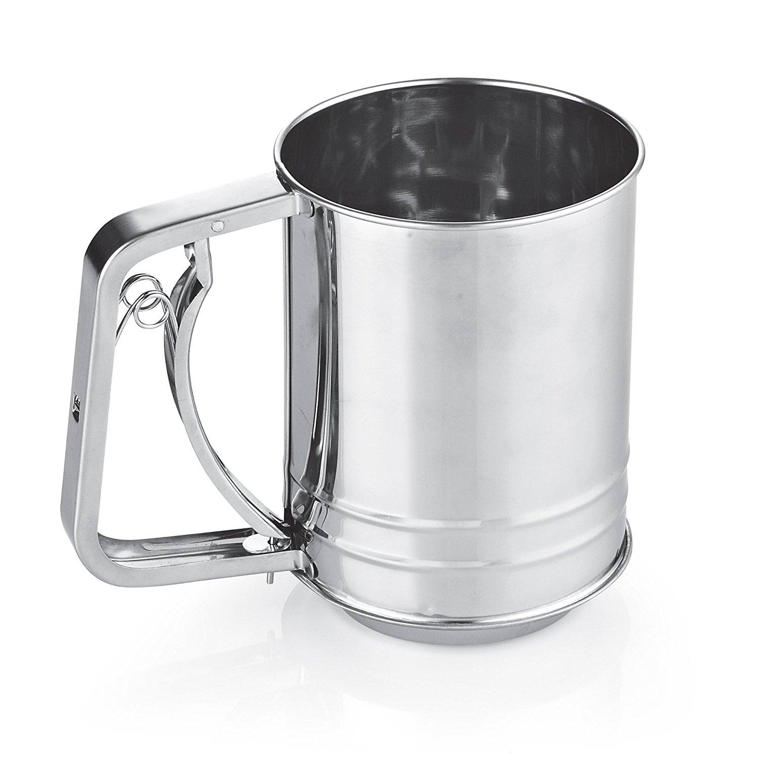 Cook N Home 3-Cup Stainless Steel Flour Sifter by Neway International Inc