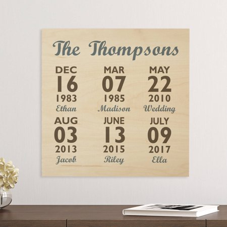 Personalized Our Best Days Wood Plaque, Slate