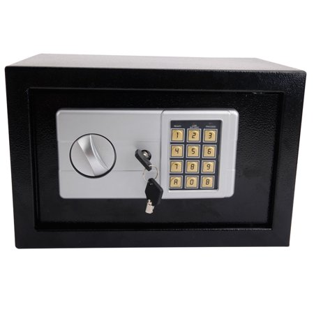 Zimtown Fire Safe Box with Keypad Lock Water and Fireproof Safe Box with Key for Home Office Hotel Security, Black