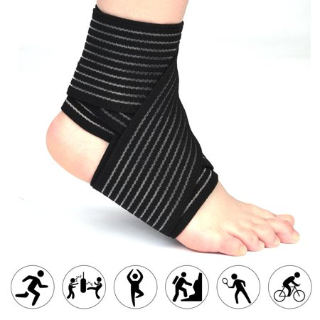 LAFGUR High elasticity Breathable Calf Thigh Support Knee Brace Ankle Stabilizer Ankle Support Injury Pain Sports Pad Compression Wrap Support Bandage Brace Guard Intermediate Thigh Pad