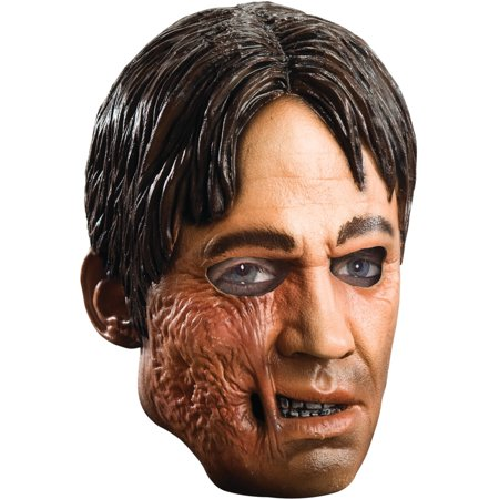 Adult Jonah Hex Southern Civil War Cowboy Vinyl Costume Mask (Jonah Hex Scar)