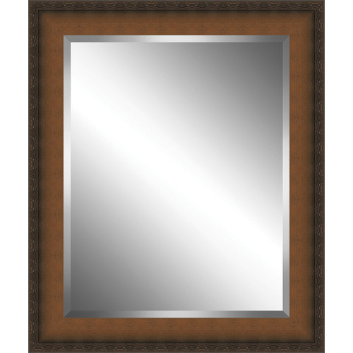 Ashton Wall D cor LLC Country Wood Framed Beveled Plate Glass Mirror