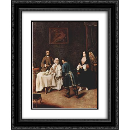 Pietro Longhi 2x Matted 20x24 Black Ornate Framed Art Print