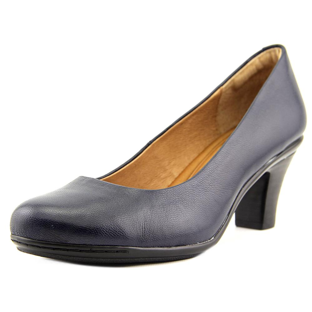 Sofft Velma Women Round Toe Leather Blue Heels by Sofft