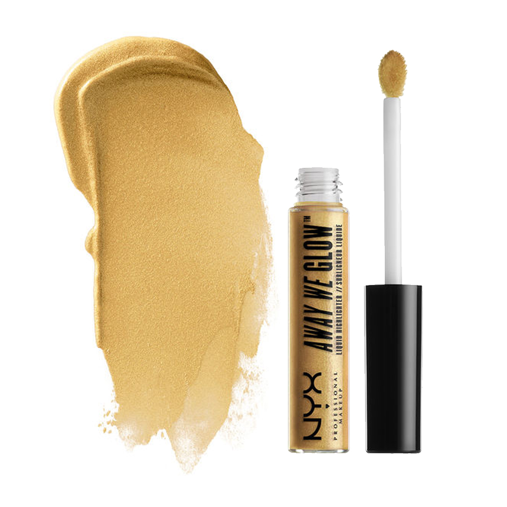 (6 Pack) NYX Away We Glow Liquid Highlighter - Golden Hour
