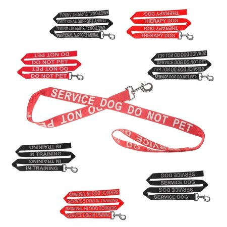 Reflective Letter IN TRAINING Nylon Dog Leash for Service Dogs, Leash made of nylon with reflective Emotional Support Animal lettering.., By Dogline from USA