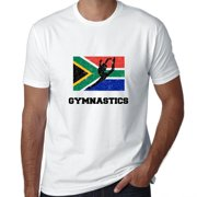 South Africa Olympic - Gymnastics - Flag - Silhouette Men's T-Shirt