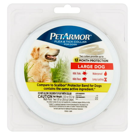 PetArmor Flea & Tick Prevention Collars for Large Dogs, 12 Months