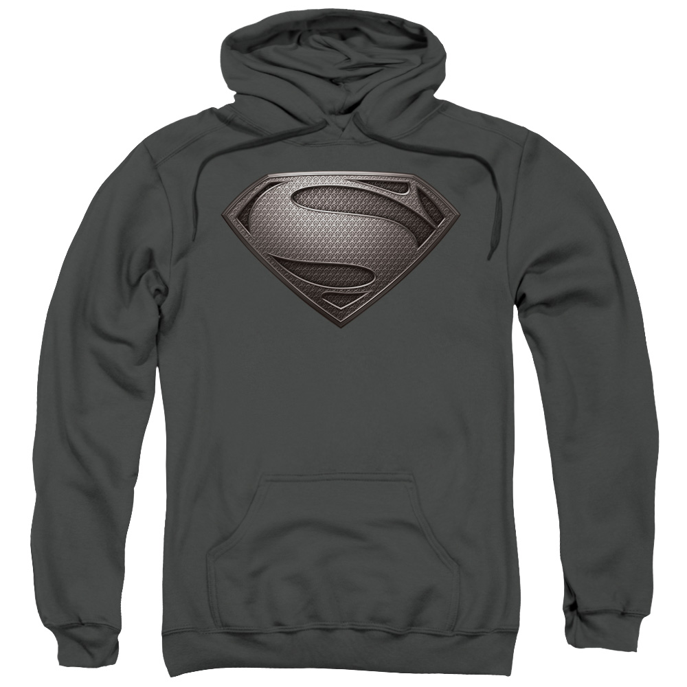 Man of Steel Superman Mos Desaturated Mens Pullover Hoodie