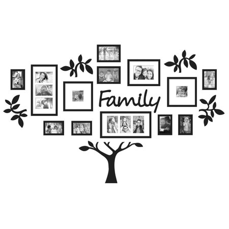 LDPT Family Photo Frame Tree Picture Collage 3D DIY Stickers Wall Art Hanging Home Decor Wedding (Wall Tree Photo Frame)
