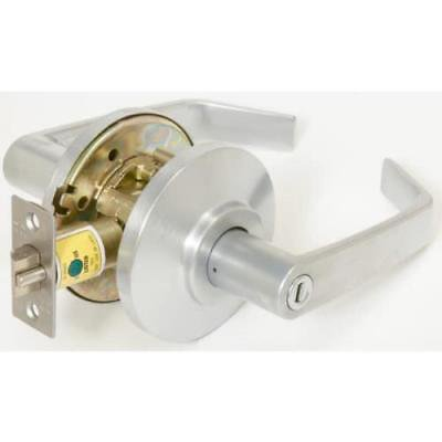 BEST Satin Chrome Reversible Privacy Cylindrical Lever