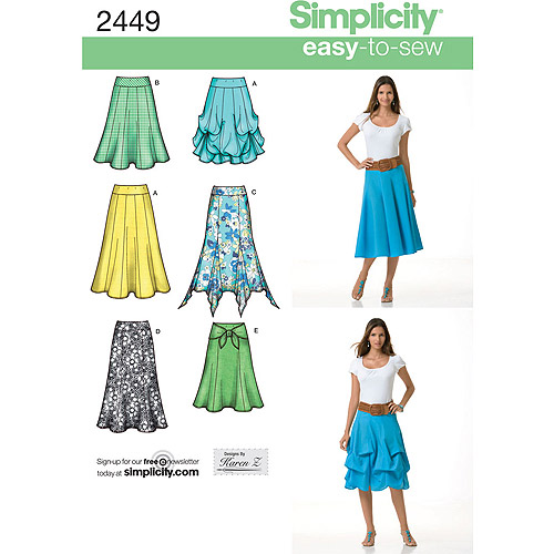 Simplicity Pattern Misses' Skirts/Pants, (14, 16, 18, 20, 22)