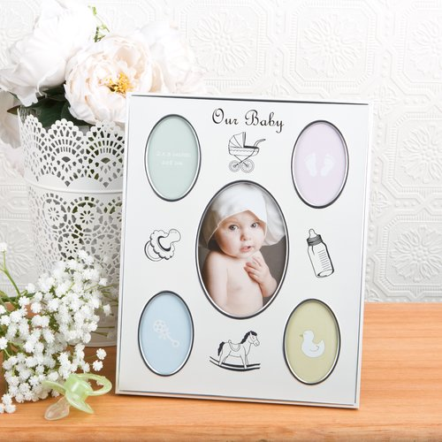 Fashion Craft Baby Collage Aluminium Picture Frame