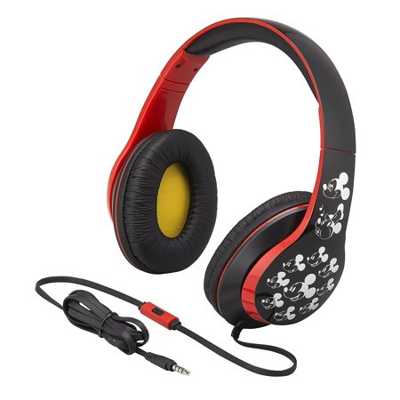 Mickey Mouse Over the Ear Headphones with Built in Microphone Quality Sound from the makers of iHome - Minnie Mouse Headphones
