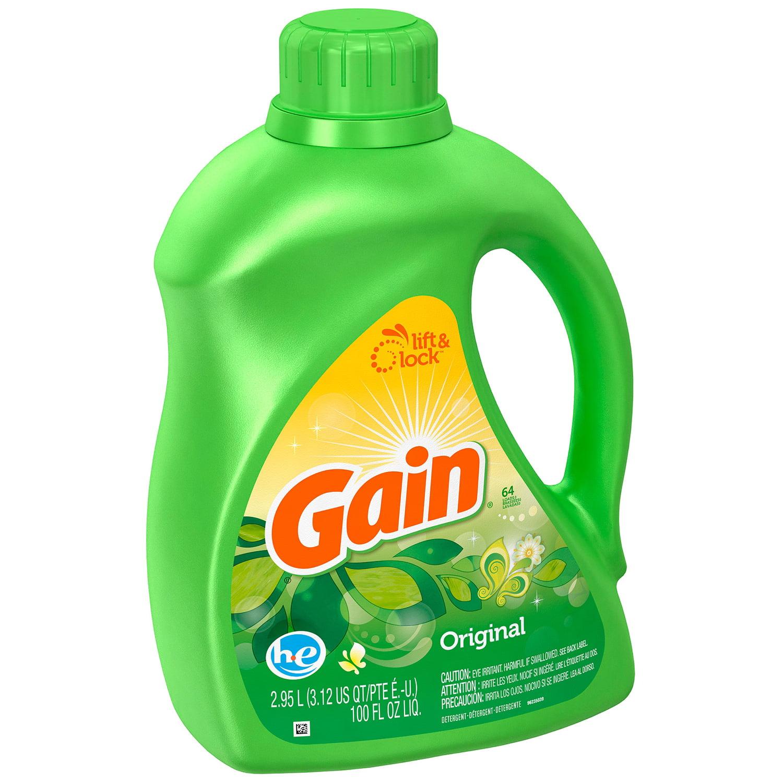Gain® Original Scent High Efficiency Liquid Laundry Detergent 64 Load 100 fl. oz. Bottle