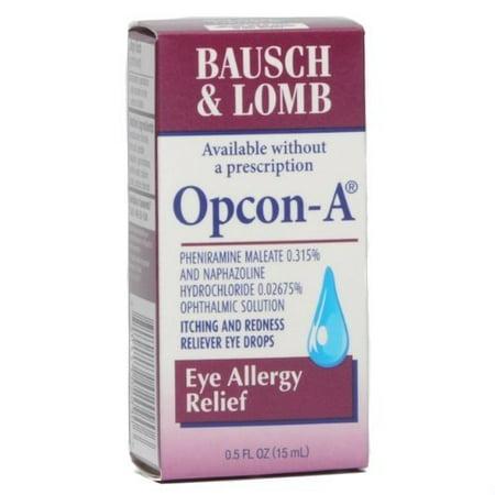 Bausch & Lomb Opcon-A Eye Allergy Relief, .5 oz.