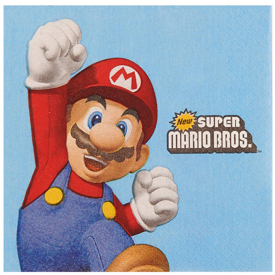 Super Mario Party Beverage Napkins, 20pk