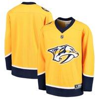 Nashville Predators Fanatics Branded Youth Home Replica Blank Jersey - Yellow