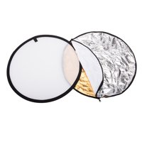DODOING Photography 5 in 1, Multi Portable Collapsible (Gold, Silver, White, Black, Translucent)Photography Studio Photo Light Reflector, 24-Inch 60cm Disc