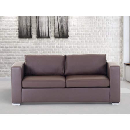 Fabulous Beliani 3 Seater Sofa Brown Leather Helsinki Walmart Com Gmtry Best Dining Table And Chair Ideas Images Gmtryco