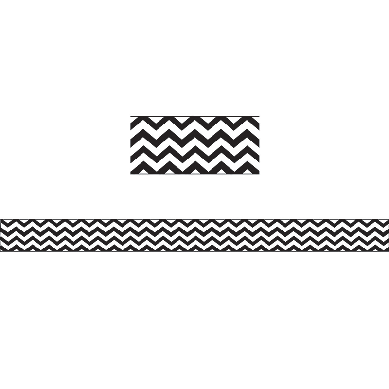 MAGNETIC MAGI-STRIPS BLACK CHEVRON