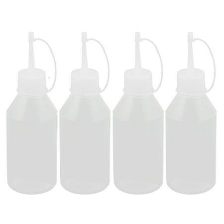 Ketchup Bottle Sizes (Plastic Sauce Vinegar Ketchup Squeeze Bottle Dispenser 100ml 4Pcs for Home)