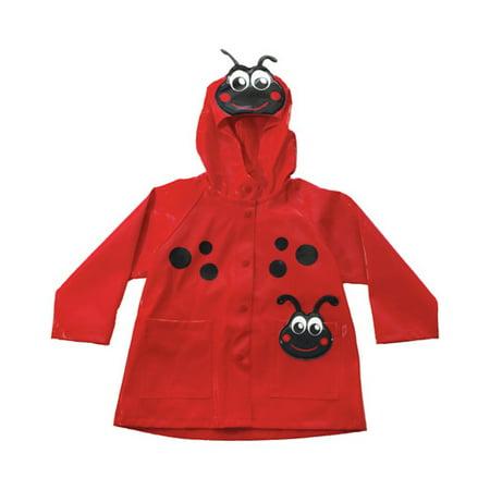 Girls' Ladybug Rain Coat (Ladybug Red Raincoat)