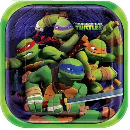 Square Teenage Mutant Ninja Turtles Dinner Plates 8ct ()