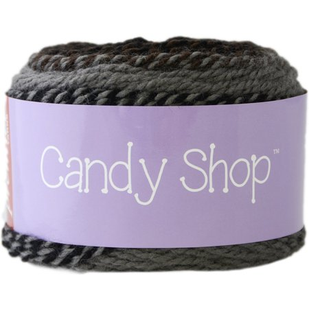 Two Strand Twists - 1057-13 Candy Shop Yarn-Dark Chocolate, Candy shop is a self-striping yarn with a twist! two strands of soft Acrylic are dyed separately in 3.., By Premier Yarns