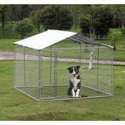 New MTN-G 10x10FT Outdoor Pet Dog Run House Kennel Shade Cage Enclosure w/ Cover Playpen
