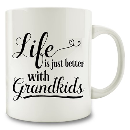 Life Is Just Better With Grandkids Coffee Mug grandmother