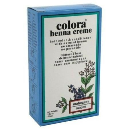 Colora Henna Creme Hair Color Mahogany, 2 oz